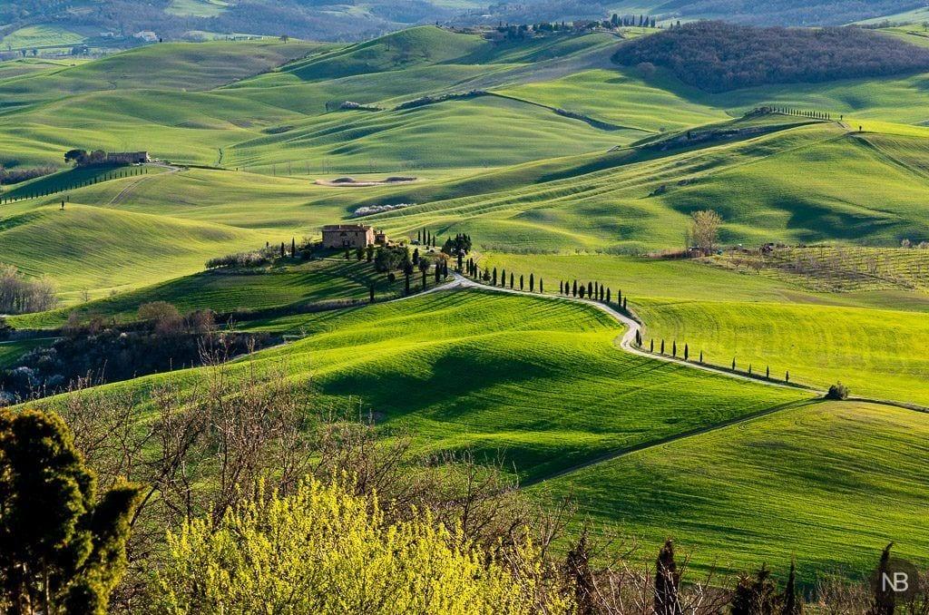 Vistas de la campiña Toscana desde Pienza