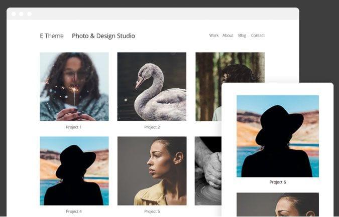 E theme Asithemes plantilla fotografía WordPress