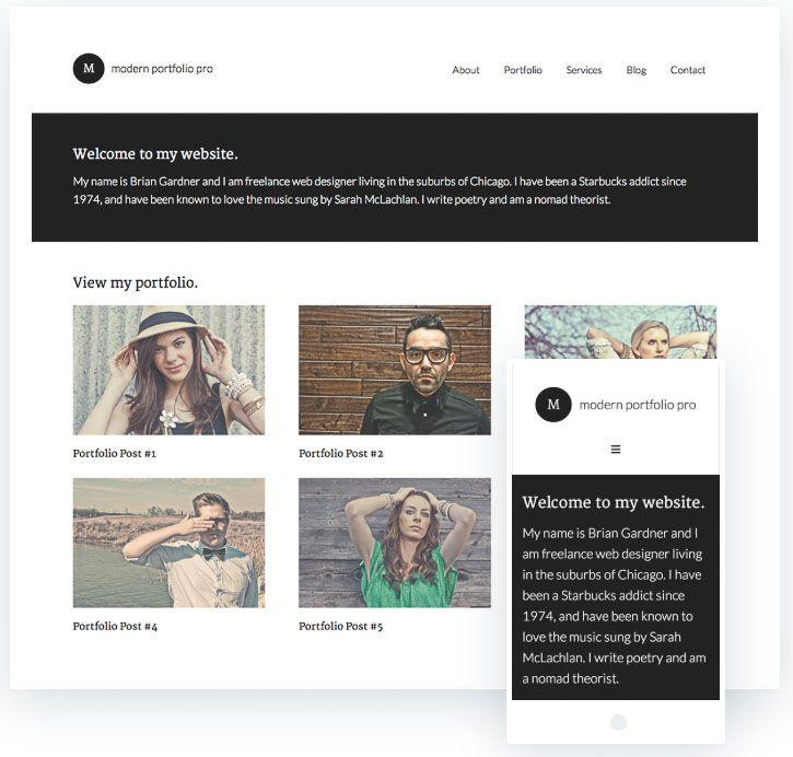 Modern Protfolio Pro plantilla fotografía WordPress