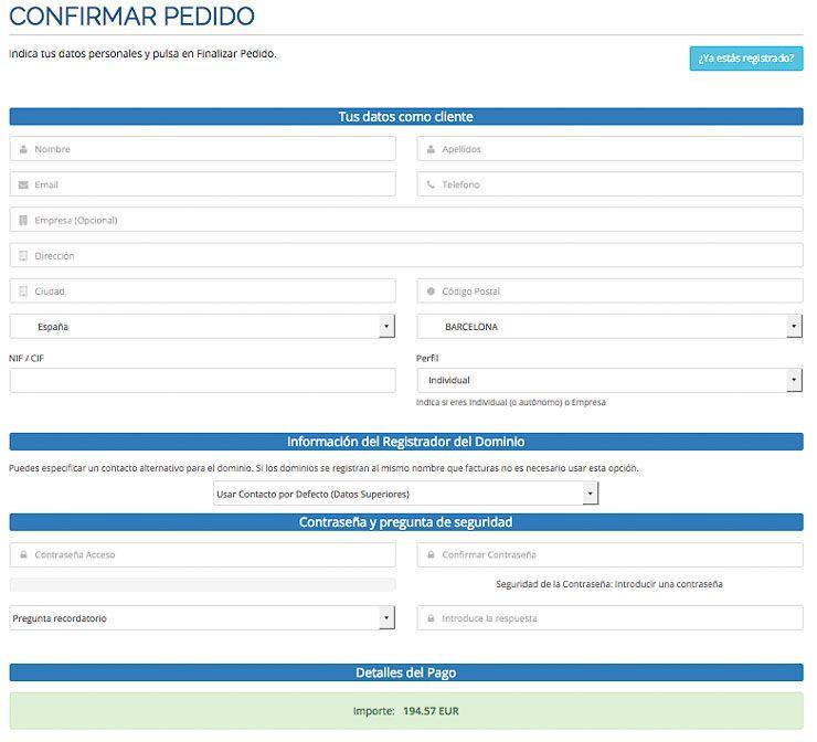 Datos personales Webempresa
