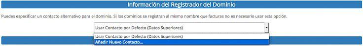 Datos registro dominio Webempresa