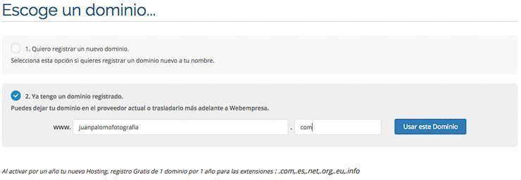 dominio registrado Webempresa