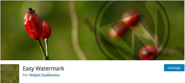 Easy Watermark WordPress plugin