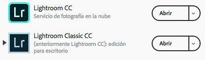 Las dos nuevas versiones de Lightroom