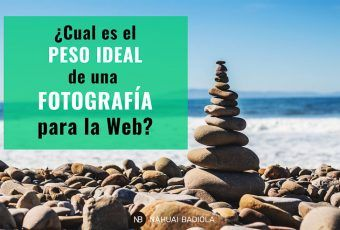 Peso ideal fotografía para la web