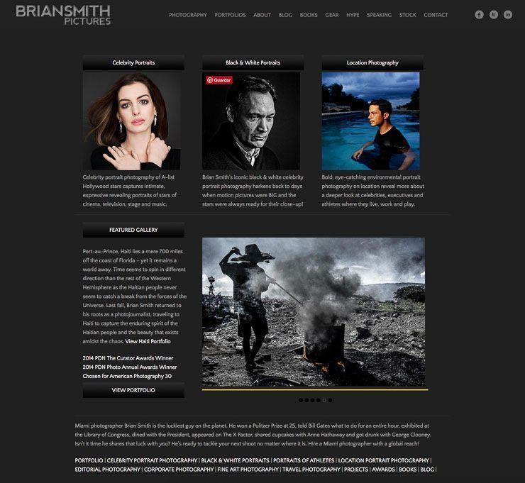 Brian Smith web fotografía en WordPress