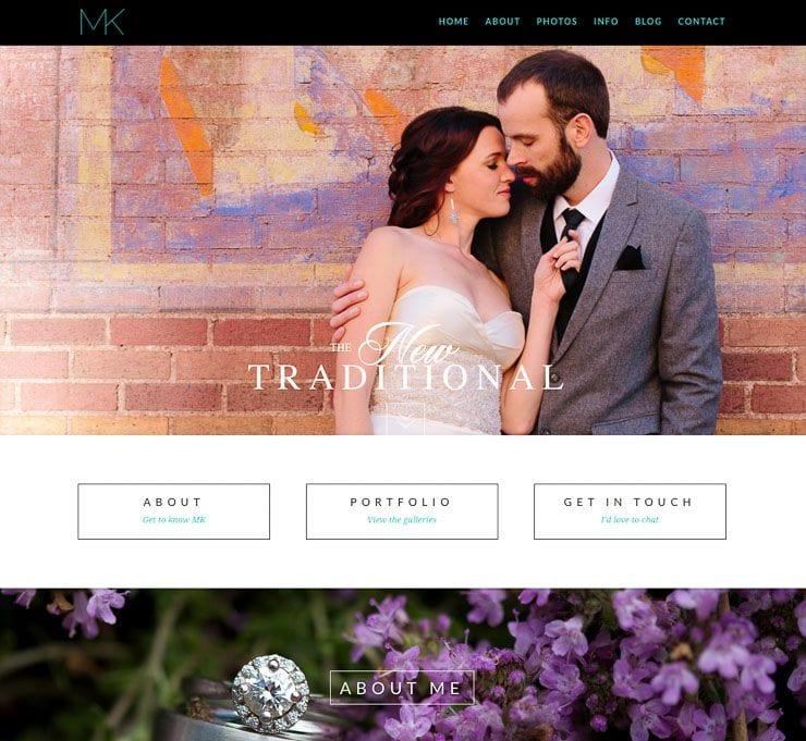 MK Weddings web de fotografía WordPress