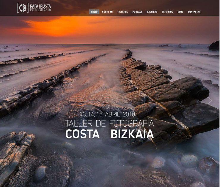 Rafa Irusta web de fotografía WordPress
