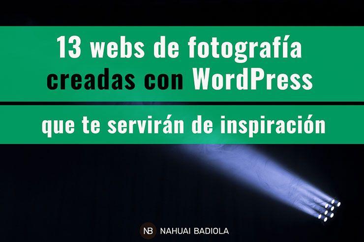 Webs de fotografía creadas con WordPress