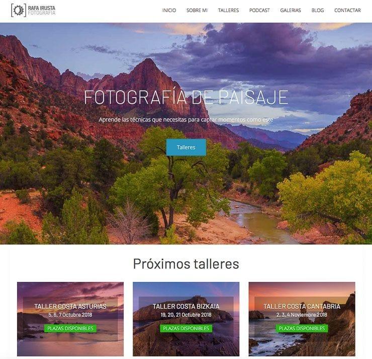Web Rafa Irusta desarrollada por Nahuai Badiola