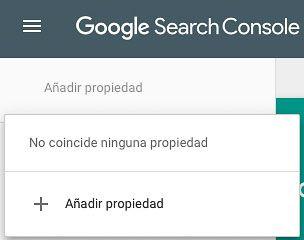 Añadir propiedad Search Console