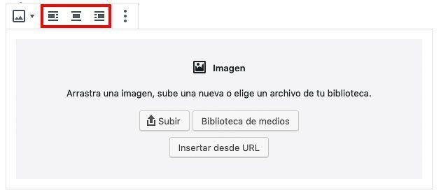 bloque imagnen WordPress tema sin optiminzar Gutenberg