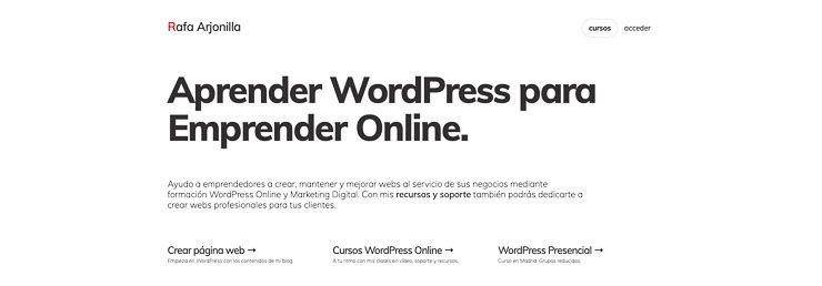 Aprende WordPress Rafa Arjonilla