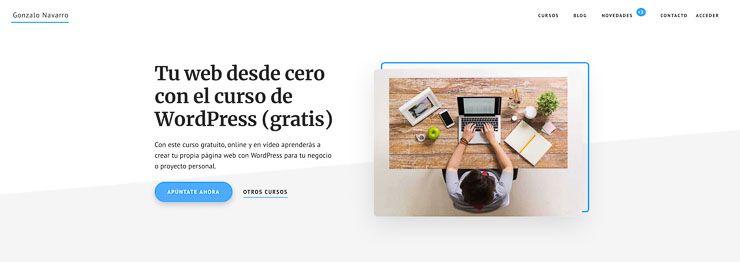 Cursos WordPress Gonzalo Navarro