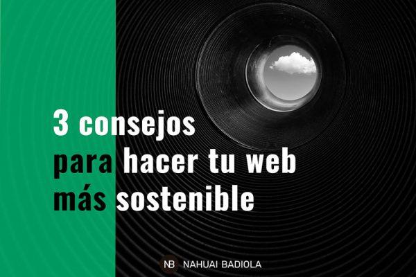Cómo hacer webs más sostenibles