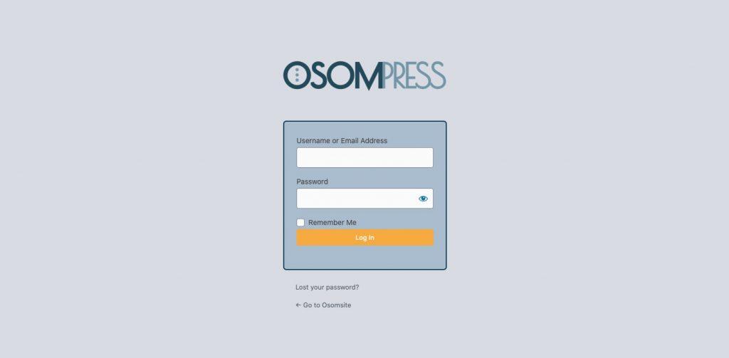 Resultado final de login con el Plugin Osom Login WordPress Customizer