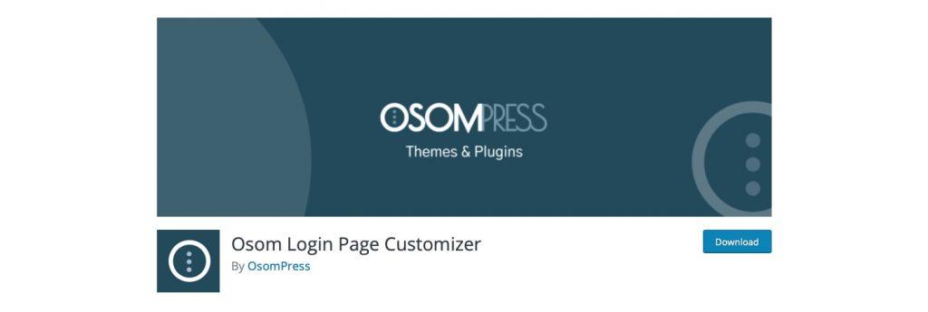 Plugin Osom Login WordPress Customizer