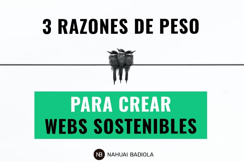 3 razones para crear webs sostenibles