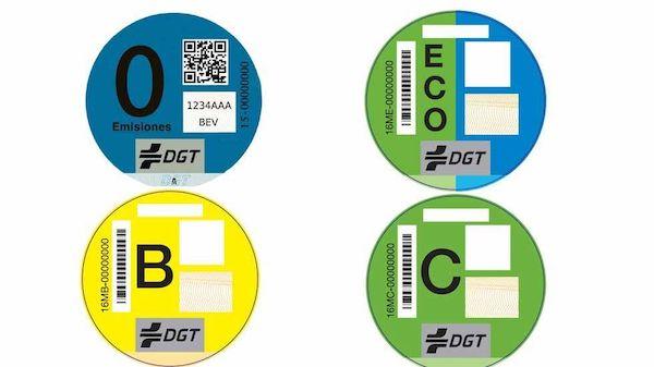 Etiquetas ecológicas para coches