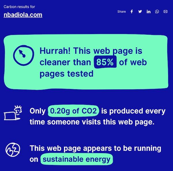 Website Carbon Calculator - herramienta online para medir CO2 web